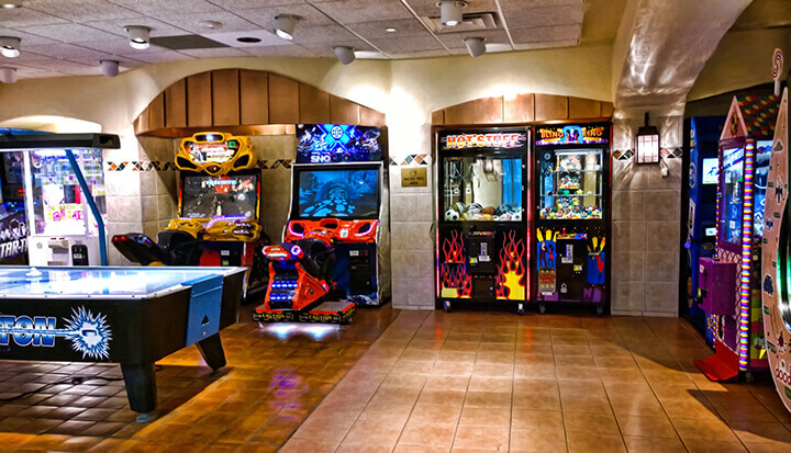 full-sized arcade cabinets