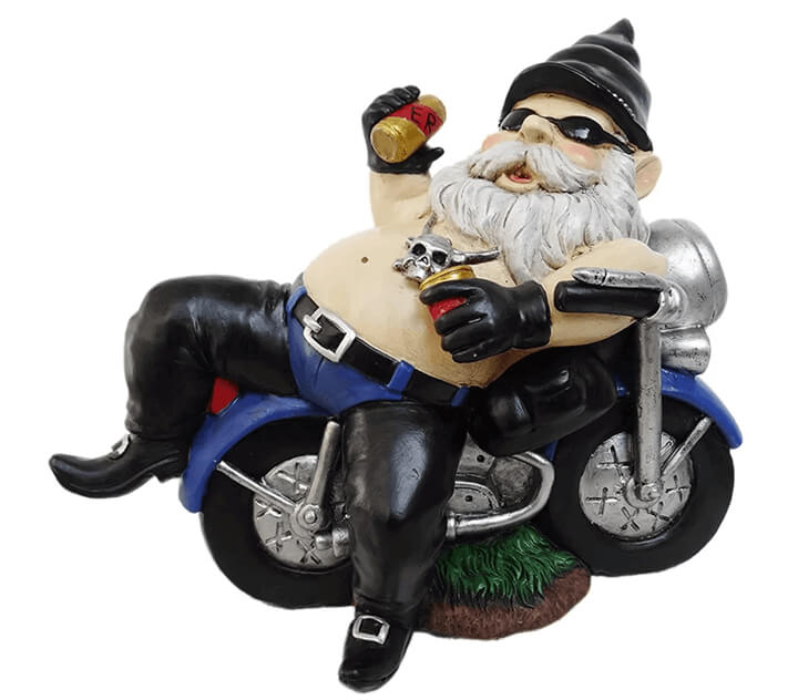 motorcycle rider gnome