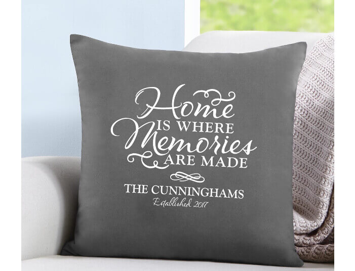 throw pillow for housewarming gift