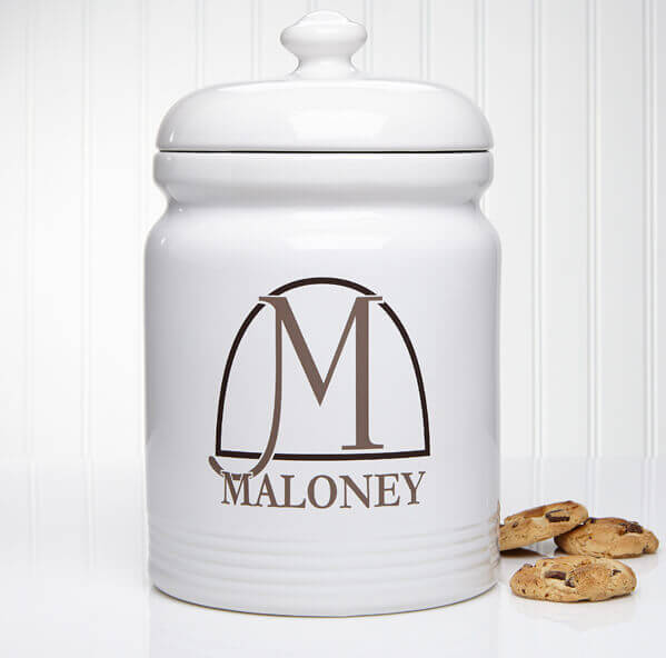 monogrammed cookie jar