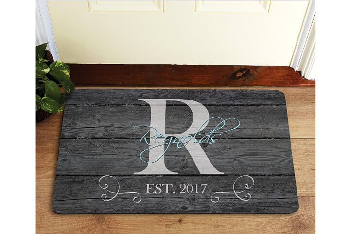 personalized welcome mat
