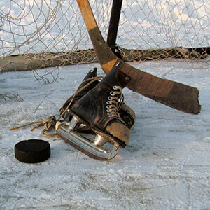 Old hockey gear