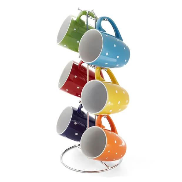 Set of colorful coffee mugs