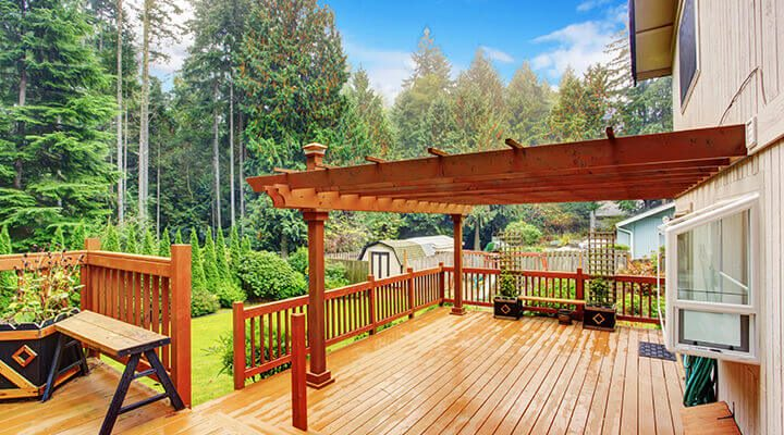 structure over a large deck