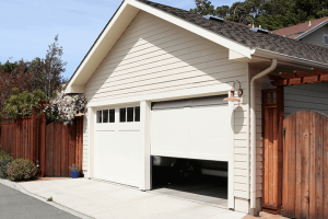 garage door opened