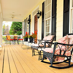 large traditionally styled porch