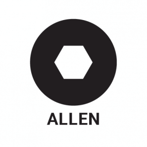 Allen screw head