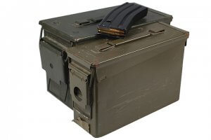 two ammo cans