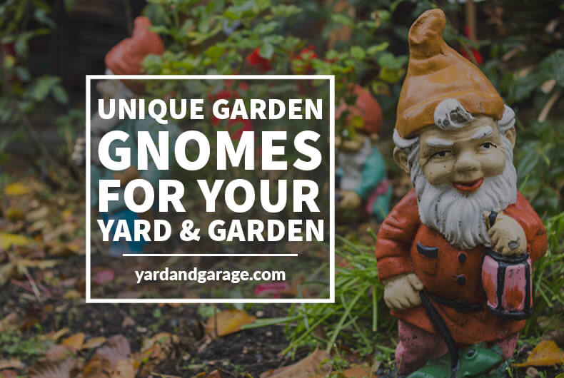 set of garden gnomes