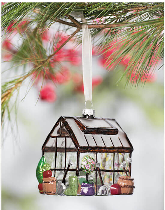 greenhouse Christmas ornament
