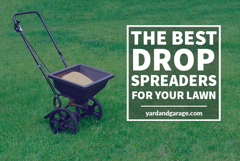 Full drop spreader on lawn