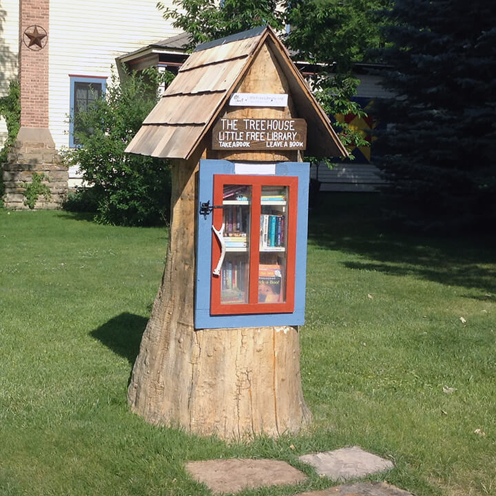 tree stump library