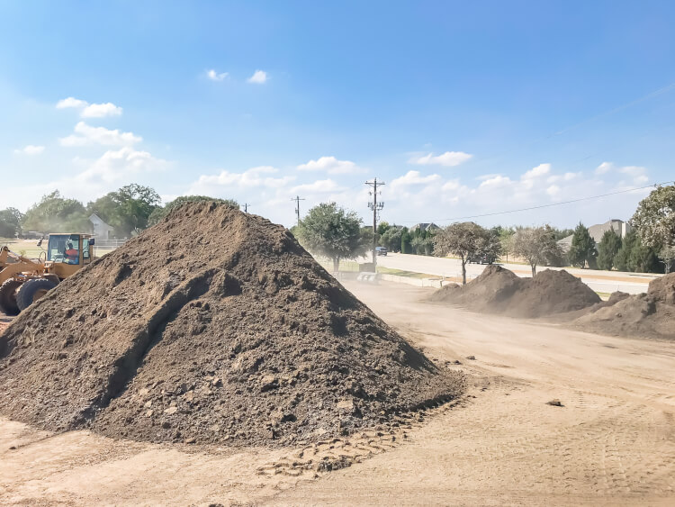 pile of topsoil and compost